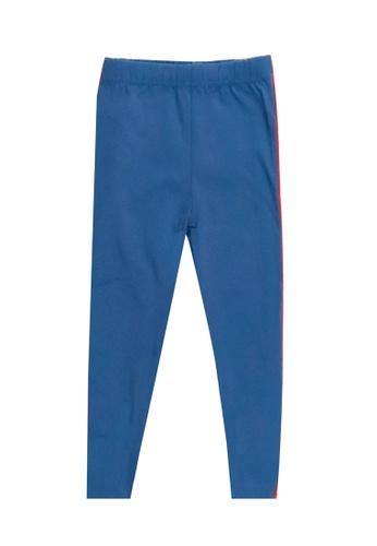 POP Shop blue Girls' Leggings with Rainbow Side Stripes 9B728KA60B2BDAGS_1