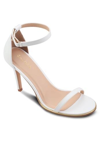 一字帶繞踝高跟鞋、 女鞋、 絕美洋裝ZALORA一字帶繞踝高跟鞋最新折價
