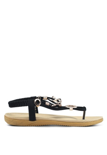 Mimosa 黑色 金屬飾夾腳涼鞋 7EF13SHBC2BBF3GS_1