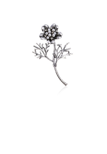 Glamorousky white Simple Fashion Flower Imitation Pearl Brooch 02E2EAC9B02888GS_1