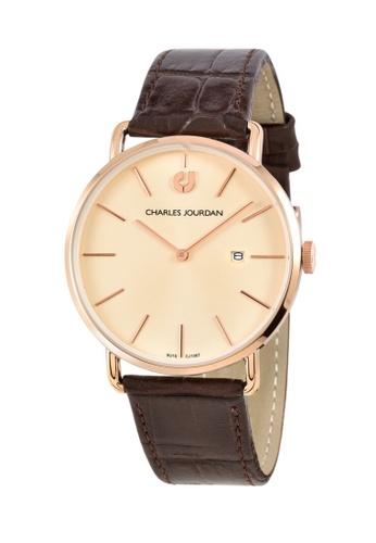 Charles Jourdan gold Charles Jourdan Men Watch Classic Quartz CJ1067-1572 0A029AC3C3F3D5GS_1