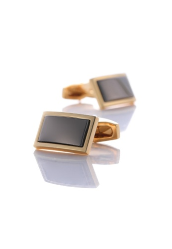 Kings Collection gold Two-Tone Rectangle Gold Cufflinks (KC10043a) 58FEEACCEAE68FGS_1