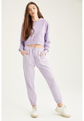 DeFacto purple Woman Knitted Sweat Shirt 29FDEAA80485B3GS_1