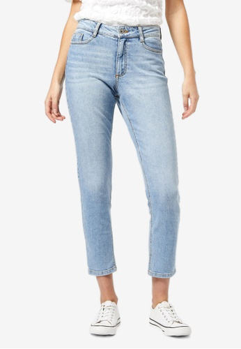 Dorothy Perkins blue High-rise Authentic Denim Jeans 6E246AA6DFDCC7GS_1