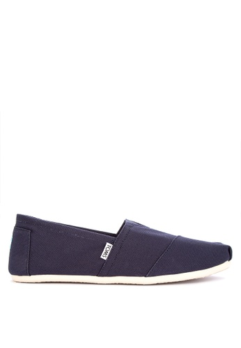 TOMS navy Alpargata Slip-on 5219CSH70B4BDEGS_1