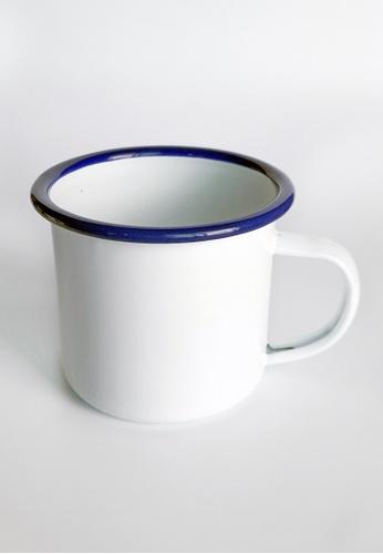 Your Lagom white and blue Classic Enamel Mug D15DFHL6FAE8E7GS_1