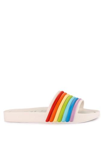 9d91f59d172a3b Melissa white Beach Slide 3Db Rainbow Ad 47AA2SH9807790GS 1