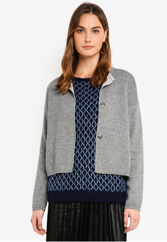 United Colors of Benetton grey Knitted Cardigan. 44F53AA93A91FDGS_1