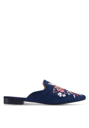 Noveni 藍色 花卉平底鞋 A66EESH149DD45GS_1