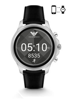 3c9aa31312 Emporio Armani black Armani Alberto Black Smart Watch ART5003  AR024AC0S03NMY 1