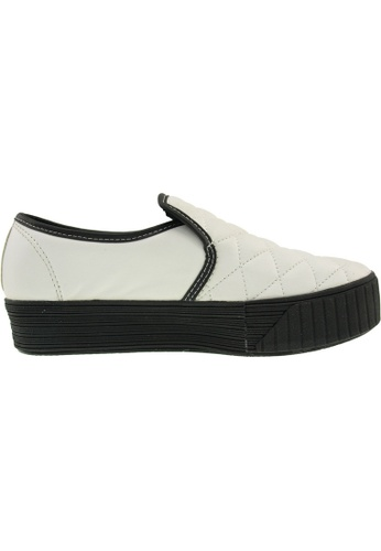 Maxstar white Maxstar Women's C30 Stitched PU Platform Slip On Shoes US Women Size MA164SH28QQHSG_1