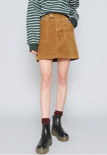 燈芯絨H字短esprit 香港裙, 服飾, 迷你裙