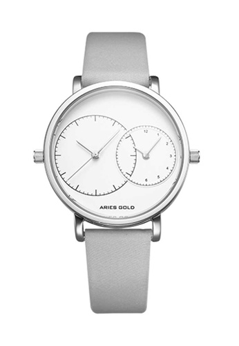 Aries Gold silver Aries Gold Wanderer L 5027 Grey and Silver Watch 6306AAC06589ECGS_1