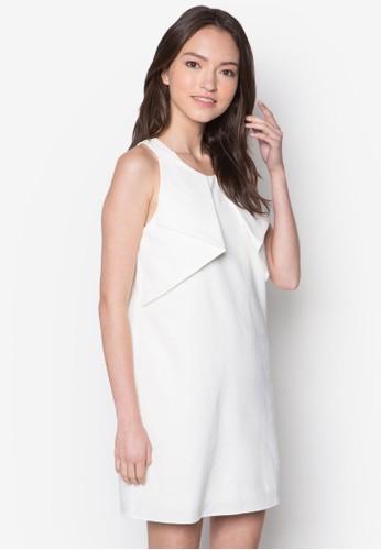 褶飾無袖連身裙,zalora 台灣 服飾, 洋裝