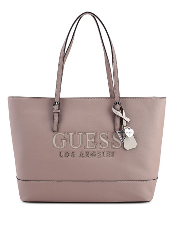 Guess Pink Chandler Tote Bag 993e4ac5341efbgs 1
