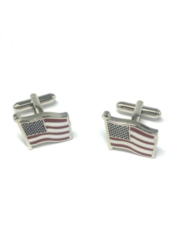 Splice Cufflinks multi American Flag Cufflinks SP744AC50FRTSG_1
