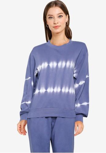GAP blue Balloon Sleeves Pullover Sweatshirt B5759AAA2F6A33GS_1