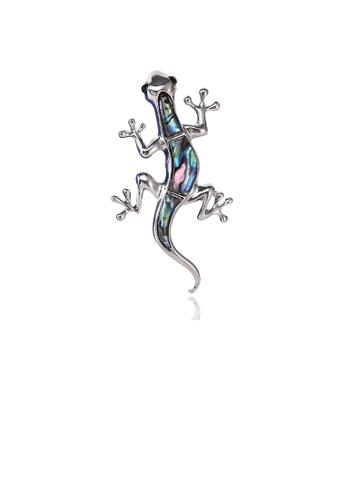 Glamorousky silver Fashion Personality Gecko Brooch DBC27ACDDB7945GS_1
