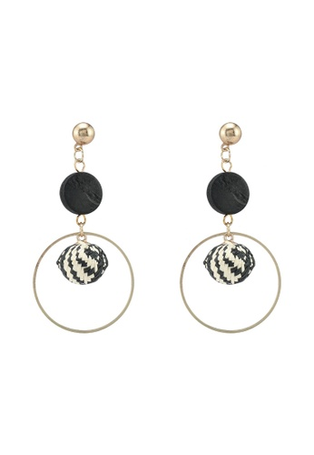 Saturation multi Houndstooth Bead Drop Earrings C3A14ACA9373BCGS_1