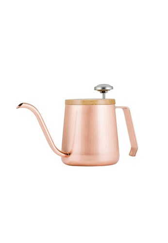 A-IDIO A-IDIO Swan-Neck Kettle - Pour Over Coffee Kettle and Thermometer Set (Rose Gold) E8F2AHLF3F65B3GS_1