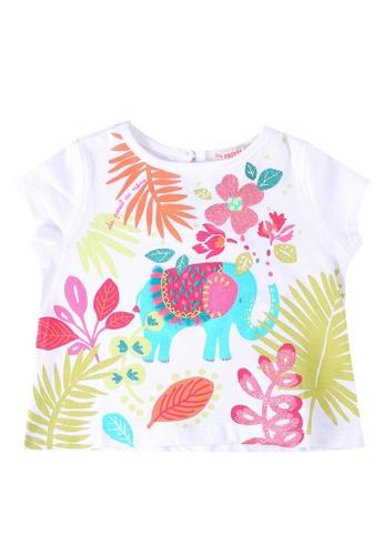 Du Pareil Au Même (DPAM) white Short Sleeve T-Shirt 51540KA65545FBGS_1
