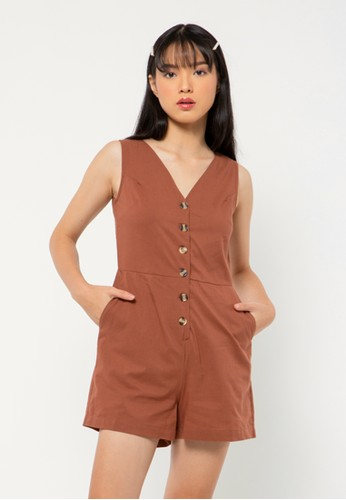 COLORBOX brown Sleeveless Jumpsuit 9146BAA870A391GS_1