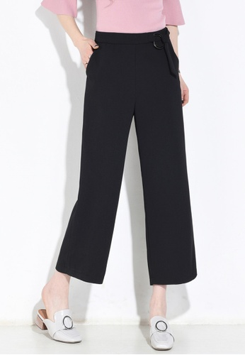 Lara black Women's High Waist Cropped Pants BFE31AAA093AF9GS_1