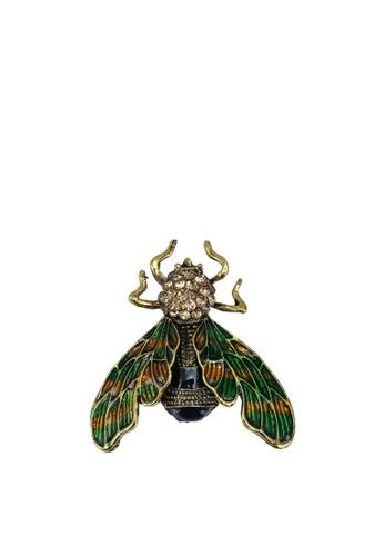 Red's Revenge green Emerald Beetle Brooch 35F32ACA9468BDGS_1