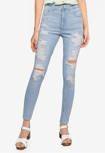 Hollister blue High Rise Super Skinny Jeans 2E65FAA7280506GS_1