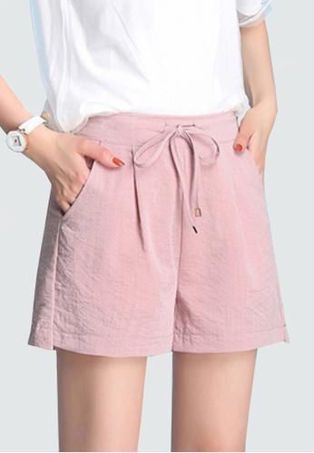 Twenty Eight Shoes pink VANSA Ice Silk Cotton Linen Shorts Pant VCW-PYMSS FF565AAEE66B02GS_1