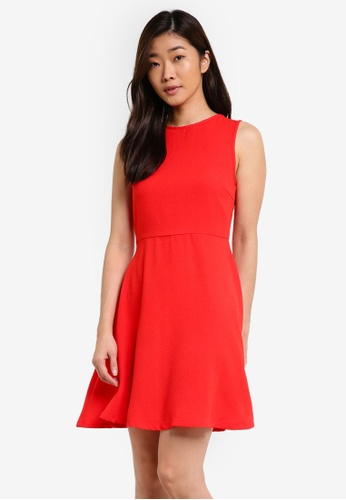 ZALORA red Essential Fit & Flare Dress 8BD6FAACB60FD8GS_1