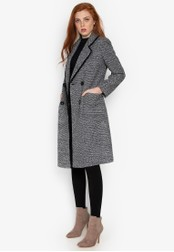 Well Suited grey Tweed Wool Trench Coat 1867BAA07597A4GS_1