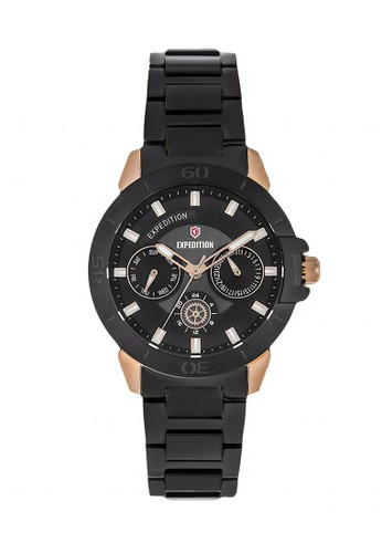 Expedition black Expedition Jam Tangan - Black Rosegold - Stainless Steel - 6758 BFBBRBA 96300ACF059EF8GS_1