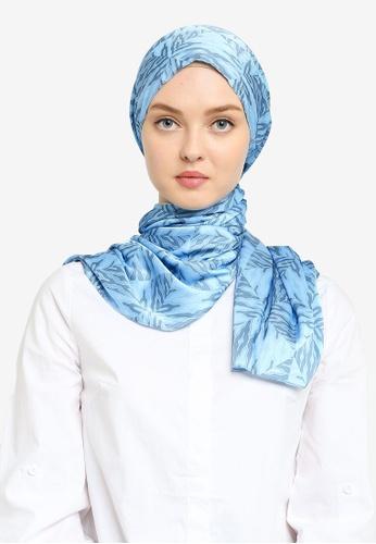 Hijabii 藍色 印花頭巾 B5D64AC766FCECGS_1