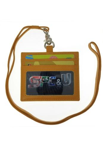 Oxhide yellow Oxhide Leather Lanyard / ID card holder Lanyard /Wallet/Leather - 4164LS – YELLOW 264E0AC0B37E0EGS_1