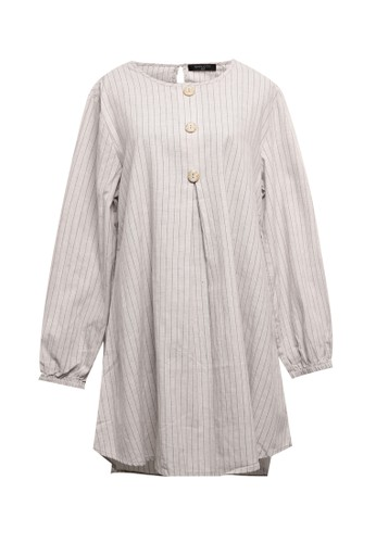 SIMPLICITY brown Big Button Tunic 68027AAC48AA22GS_1