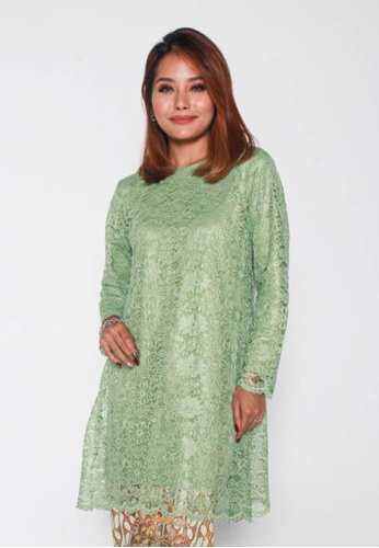 Naphthys Collection green Aara Lace Blouse/Tunic/Kurung C4536AA6AB1AE8GS_1