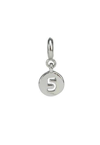 My Flash Trash silver Silver number charm 5 29A73AC7B3734BGS_1