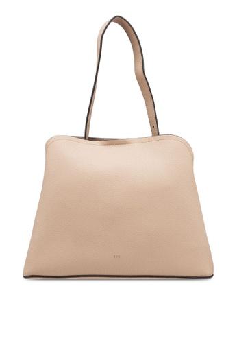 nose beige Pebbled Shoulder Bag FD9A1ACE219247GS_1