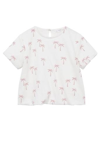 MANGO BABY white Boats Printed Cotton T-Shirt C928AKA11E3F92GS_1