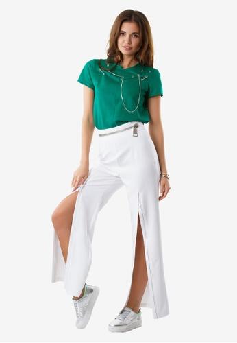 NOBASIC white Zoey Zipper White Pants NO444AA0FP56SG_1