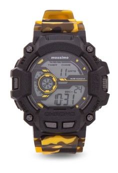 Dune Unisex Yellow Rubber Strap Watch MS-1603G-YLW