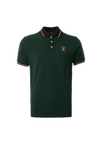 Santa Barbara Polo & Racquet Club green SBPRC Regular Polo Shirt 10-9423-96 6AA74AA1447E87GS_1