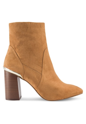 Dorothy Perkins brown Tan Amanda Wooden Heel Boots DO816SH74ZJXMY_1