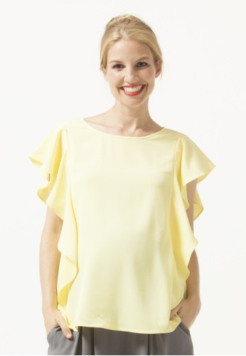 Bove by Spring Maternity yellow Ruffled Slvs Yasmine Nursing Top Yellow 891BCAA69123BCGS_1
