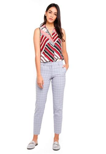 Dorothy Perkins white Stripe Sleeveless Shirt F2A97AAF162876GS_1