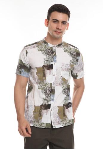 MANZONE brown TAIMUR-KHAKI Shirt DE680AAFD89789GS_1