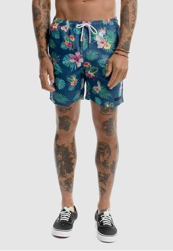 VACANCY CO blue Paradise Parrots Swimshorts 8DC67AA08014E4GS_1