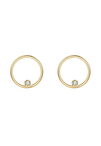 Elli Germany gold Elli Germany Earrings Circle Swarovski® Crystals 925 Silver Gold Plated 92894AC7132F66GS_1