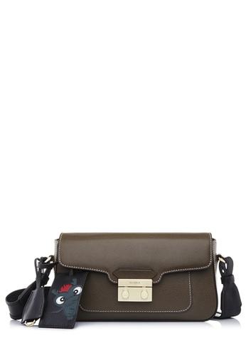 BONIA brown Bronze Cultura Shoulder Bag M 22B2BAC25D4A4BGS_1